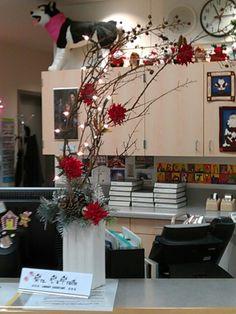 Christmas arrangement to brighten my counter
