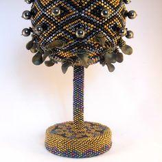 OOAK Art object/ Beaded art / Beaded object / by Martinia on Etsy