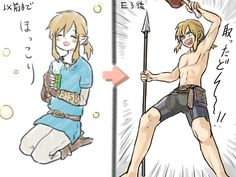 Link Breath of the Wild by @syoukichiro    what a wild child lol