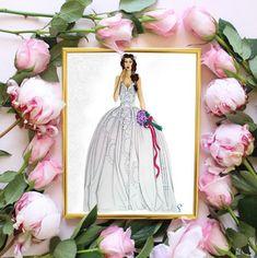 Digital print of the custom portrait bride. Drawn and colored by me. #Digitalprint #portrait #bride #customportrait #wallart #printable #homedecor #fashionIllustration #bridalIllustration #print #PrintableArt #DigitalArt