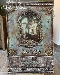 Book Making, Mixed Media Art, Decoupage, Shabby Chic, Diy Projects, Bottle, Frame, How To Make, Handmade