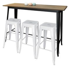Replica Tolix Bar Table With 3 Stools