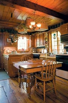 1000 images about cabin kitchens on pinterest log for Log cabin kitchen countertops