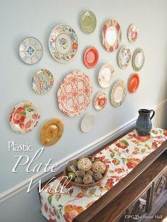 // MommaBird // MommaBird // MommaBird // MommaBird Mallory Mallory Perry The Better HalfLove thses plates! // MommaBird // MommaBird // MommaBird // MommaBird Mallory Mallory Perry The Better Half Plate Wall Decor, Plates On Wall, Ideas Cabaña, Wall Ideas, Diy Home Decor, Room Decor, Decor Crafts, Ideas Hogar, Hanging Plates