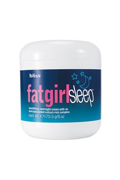 Not only does this slimming cream help smooth uneven skin texture while you sleep, it's packed with soothing aromatic lavender to help you drift right off so it can get to work. Bliss FatGirlSleep, $38, available at Sephora.