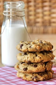 Cookies με ταχίνι, βρώμη και σοκολάτα Bakery Recipes, Sweets Recipes, Cookie Recipes, Cooking Art, Tahini, Easy Chocolate Pie, Fingerfood Baby, Greek Cookies, Cream Puff Recipe