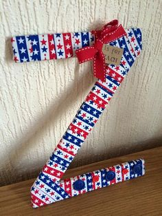 Stars and Stripes Decorative Letters - Fabric Wrapped Wooden Letters