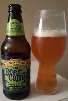 Sierra Nevada Beer Camp 2015: Hoppy Lager is a 7 ABV 55 IBU ADI Pilsener.  The appearance is golden and the nose sweet malt and floral hop.  The flavor profile is similar, bready malts turning quickly to floral citrus hop.  The mouthfeel remains light enough to remind you that you're still drinking a lager.  Hopped up lagers are ever more popular and while they aren't going to be my favorite Sierra Nevada is a solid brewery that can absolutely nail the execution.  Definitely one to try.