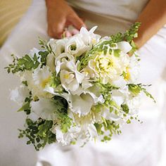 Fresh Bridal Bouquets | Green and White Bouquet | SouthernLiving.com