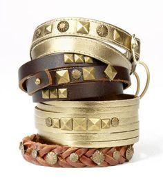 Awesome leather bracelets! #DIY #jewelry