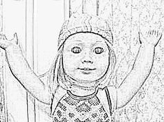 American Girl Doll Coloring Pages Art Pinterest Girl dolls
