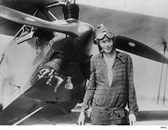 """View the picture 'Earhart' from the photo gallery 'Amelia Earhart mystery' on Yahoo News. Amelia Earhart stands June 1928 in front of her bi-plane called """"Friendship"""" in Newfoundland. (Photo by Getty Images) Valentina Tereshkova, Amelie, Amelia Earhart Plane, Christopher Street Day, Christopher Columbus, Mary Mcleod Bethune, Female Pilot, Portraits, Badass Women"""