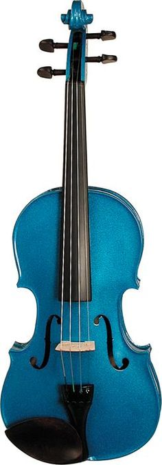 ~Stentor Harlequin Series Violin Outfit  Blue, Front ~*