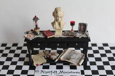 Dollhouse Miniature Gothic Vlad Tepes by NightfallMiniatures
