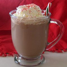 Classic Hot Cocoa Recipe  You simply must try this recipe.  It is ten time better than any mix you can get in the store.   It is rich, creamy and full of chocolate flavor. Can't get any better than hot Chocolate by a Fire in the Winter.....Wait, Watching a MOVIE, too!