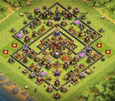 10 Best Town Hall Hybrid Base Links With Bomb Tower Anti Valkyrie, Anti Everything, Anti Miners, Anti Bowlers. Clas Of Clan, Trophy Base, Clash Of Clans Game, Background Images For Editing, Everything, Ronaldo, Thor, Dragon Ball, Naruto