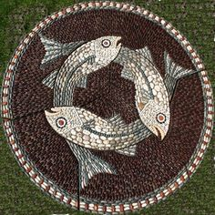 This Three–Fish mosaic was made for a newly landscaped community space in Poulton-le-Fylde, Lancashire, which once was the hub of the local fishing industry. Description from maggyhowarth.co.uk. I searched for this on bing.com/images