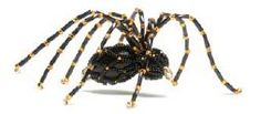 Make this beaded spider for Halloween, from the book Beaded Ornaments!