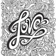 Stock vector ✓ 17 M images ✓ High quality images for web & print | Love hand lettering and doodles elements sketch background