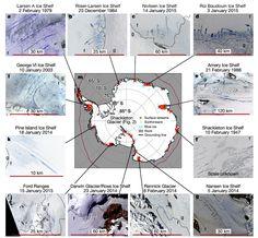 De plus en plus deau de fonte engendre lacs rivières et cascades en Antarctique
