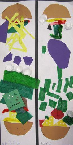 Hamburger collages based on Claes Oldenburg Kindergarten Colors, Kindergarten Art Lessons, Elementary Art Rooms, Art Lessons Elementary, Jr Art, Elements Of Art, Preschool Art, Teaching Art, Art Education