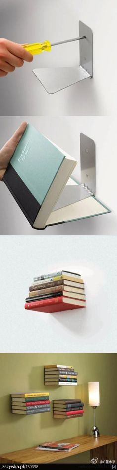 Rekje voor boeken, zonder moeilijke of dure dingen.