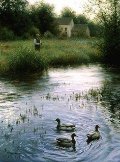 """""""Peaceful Evening"""" ~ by Artist, Robert Duncan ~ ♥ :)"""