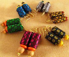 The Craft Gallery - Handmade Fabric Earrings , $7.95 (http://www.thecraftgallery.com.au/handmade-fabric-earrings/)