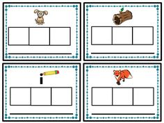 CVC Sound Boxes from Chunky Monkey's Word Work Set. Includes 80 sound boxes, 80 sorting cards, and 12 printables to use in centers. GREAT review for the beginning of the year!