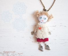 Unusual Art Doll Necklace by miopupazzo on Etsy,