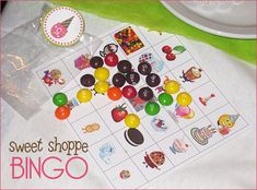 Candy themed party game - bingo