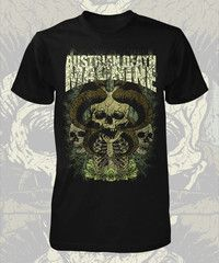 Austrian Death Machine. Black T-shirt. Front only.On Pre Order. In Stock Mid December.