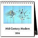 Mid-Century Modern 2016 Desk Calendar: 9781601509659 | | Calendars.com