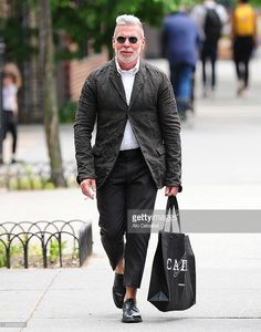 Nick Wooster is seen in the West Village on May 14, 2014 in New York City.