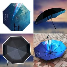 Todays Fashion Umbrella on The Demon's Chest.Anime Outfit Your Name Folding Umbrella Creative Gift Idea Dc63 get yourself ready to look cute .