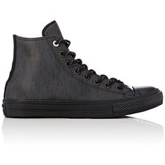 Converse Men's Chuck Taylor All Star II Sneakers ($110) ❤ liked on Polyvore featuring men's fashion, men's shoes, men's sneakers, black, converse mens sneakers, mens black hi top sneakers, mens two tone shoes, g star mens shoes and mens black shoes