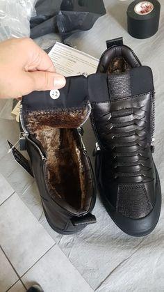d4d73e720c73 JUNJARM 2018 Men Boots Warm Plush Mens Winter Shoes Fashion Men Snow Boots  Zipper Male Ankle Boots Black Cotton Inside Men Shoes
