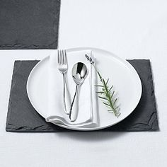 Buy Slate Rectangular Placemat - Set of 2 - from The White Company