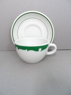 Vintage Shenango China Restaurant ware Set Green by auctionannie, $8.00