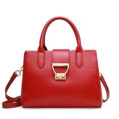 b7aa63795eb4 Twenty-four Women Casual Tote bag joker Genuine Leather fashion Designer  Ladies Shoulder bags Lady Hasp Handbags candy Classic