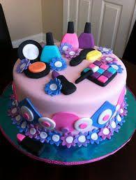 Make Up Cake Birthday Cakes For Girls Makeup
