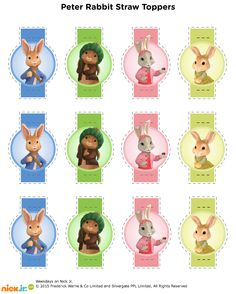 Straw/Pencil Toppers--- http://www.nickelodeonparents.com/peter-rabbit-straw-toppers/