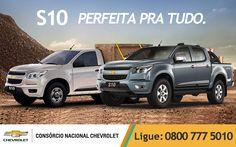 Para trabalhar ou para passear, a Chevrolet #S10 sempre está pronta pra tudo. E você NÃO PAGA: juros, taxa de inscrição, taxa de adesão, e nem entrada. Visite nosso site e saiba como conquistar a sua: www.consorciodeauto.com.br
