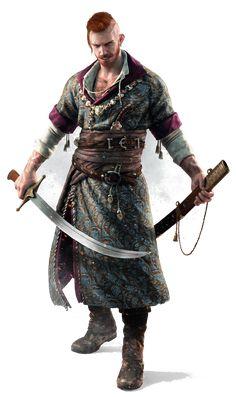 "Olgierd von Everec from ""Hearts of Stone"", ""The Witcher"" (polish game - ""Wiedźmin"") Fantasy Male, Fantasy Warrior, Fantasy Rpg, Medieval Fantasy, Witcher Art, The Witcher 3, Dnd Characters, Fantasy Characters, Fantasy Inspiration"