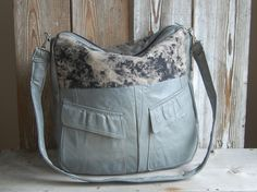 recycled grey leather