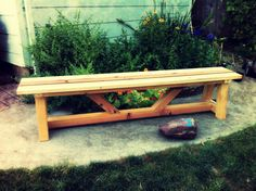 Free DIY Furniture Plans from The Design Confidential: Provence Beam Dining and Benches