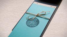 Contoh Desain Undangan Pernikahan Islami - Basmalah Kaligrafi dan Tali