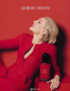 """""""Jawline"""" Cate Blanchett for Si Passione Armani Fragrance - Spring - Different and Beautiful Ideas Cate Blanchett, Armani Fragrance, Yves Saint Laurent, Giorgio Armani Beauty, Lovely Perfume, Jaw Line, Girls Dp, Photography Women, Human Photography"""