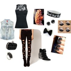 """cute punk outfit c:"" by silent-ninja87 on Polyvore"