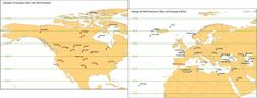 Map of North American and European cities transposed onto the opposite continent at the same latitude